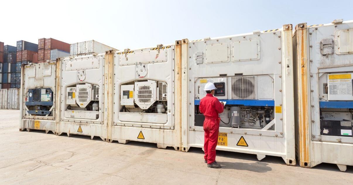 Los contenedores refrigerados posibilitan el transporte de productos sensibles a la temperatura. (1)